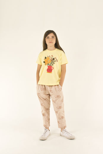 Tinycottons - TINY FLOWERS TEE SHIRT, lemonade/yellow