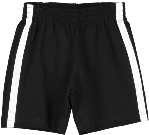 Beau LOves - Shorts, Black / White Stripe
