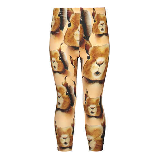 "Metsola - Squirrel Leggings, ""Squirrel cashew"""