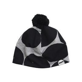 Papu - TASSEL BEANIE LOG PILE, Melange grey / Black
