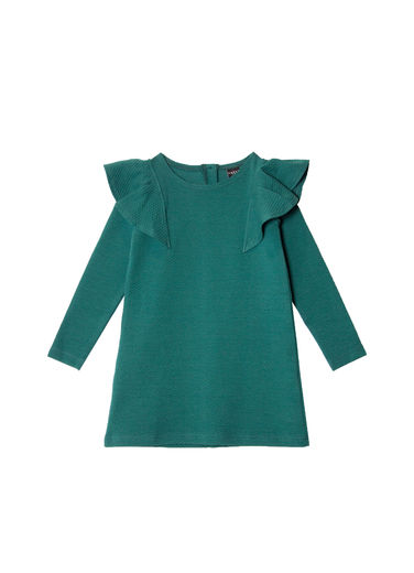 Aarrekid - Ruffle dress, moss