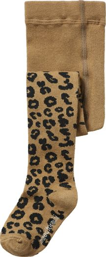 Maed for mini - Brown Leopard Tights -sukkahousut
