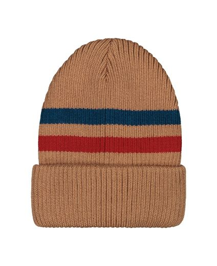 Mainio - BEANIE WITH STRIPES, CAMEL