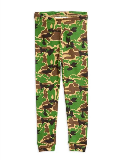 Mini Rodini - Camo leggings, green
