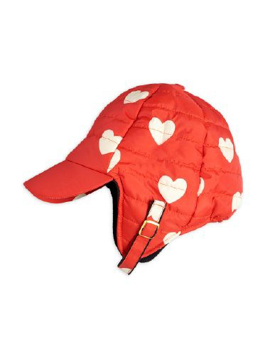 Mini Rodini - Insulator hearts cap, Red