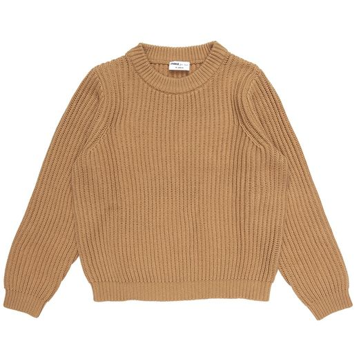 Maed for mini - Caramel Capybara Knit Sweater