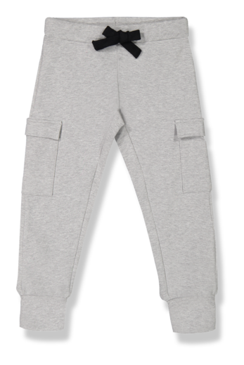 Kaiko - Cargo Joggers, Light Grey Mel.