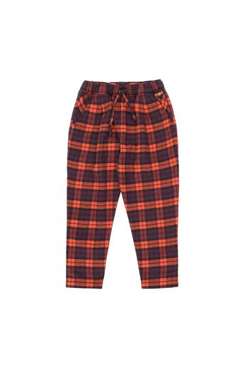 Tinycottons - CHECK PLEATED PANT navy/red