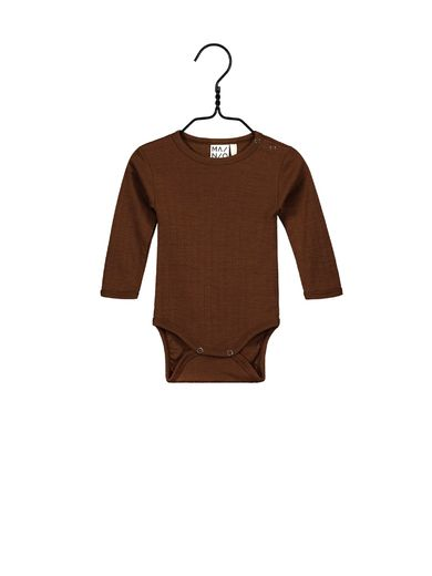 Mainio - Merino wool bodysuit, cinnamon (40012)
