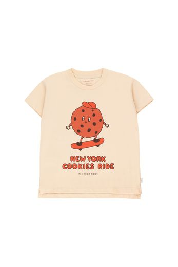 "Tinycottons - ""COOKIE RIDE"" TEE cream/brown"