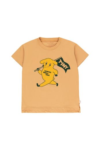 "Tinycottons - ""DOG"" TEE camel/yellow"
