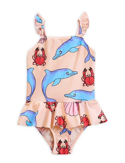 Mini Rodini - Dolphin skirt swimsuit, multi