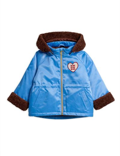 Mini Rodini - Faux fur jacket,lt  blue