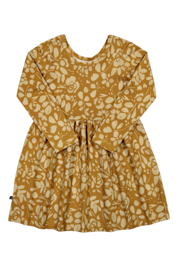 Kaiko - Floral Dress Ls, Ochre