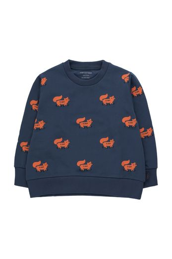 "Tinycottons -  ""FOXES"" SWEATSHIRT light navy/sienna"