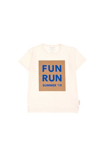 Tinycottons - 'FUN RUN' SS TEE  off-white/camel