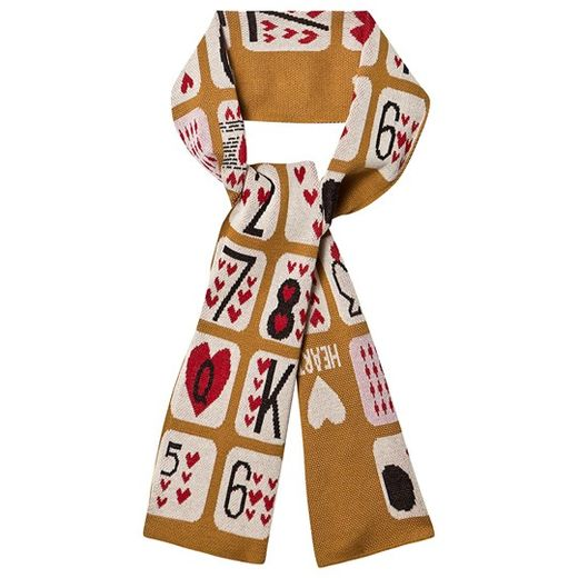 Beau LOves - Knit scarf game of hearts, camel