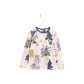 Papu - Fold shirt Hidden forest, heather pink