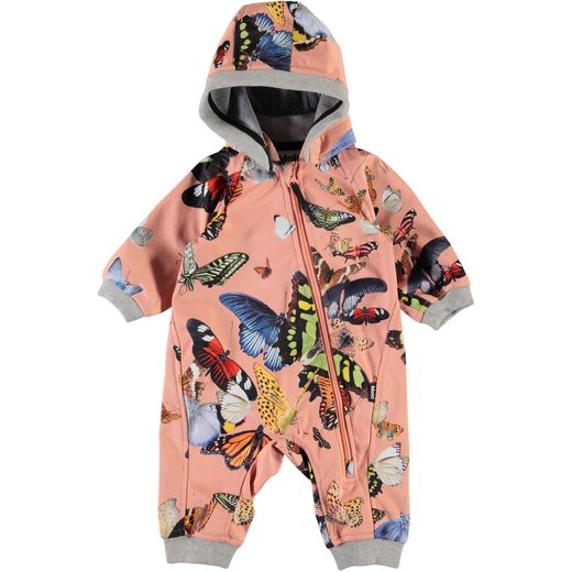 Molo Kids - Hill softshell suit, Flying butterflies