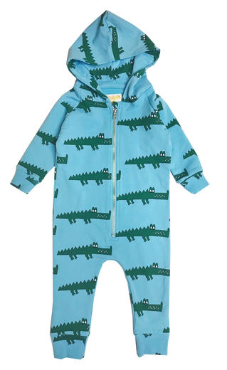 Hugo loves Tiki - Hooded jumpsuit Blue Croc