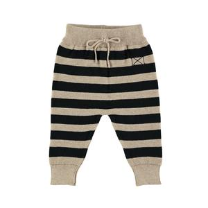 Mini Sibling - Knit Trousers, Oatmeal / Stripes