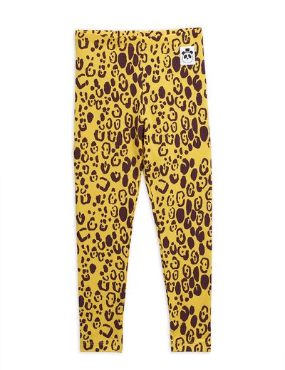 Mini Rodini - Leopard leggings, yellow