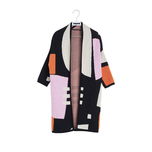 Papu - KNIT CARDIGAN, sand, lilac, orange, black