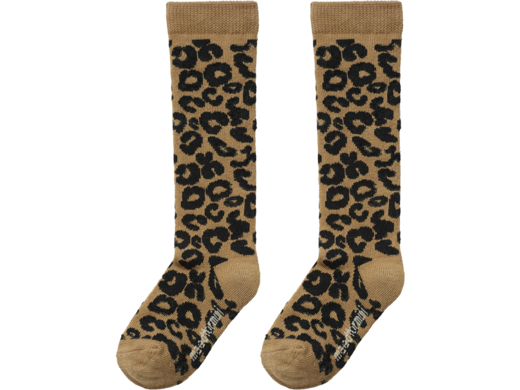 Maed for mini - Brown Leopard Knee Socks