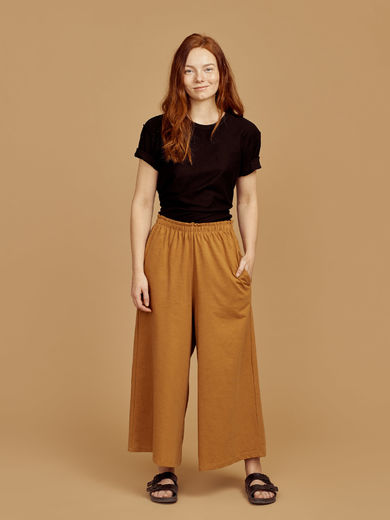 Mainio - Women's slub culottes, Brown (13504)