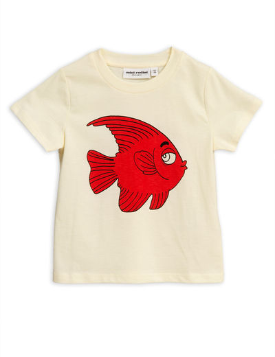 Mini Rodini - Fish sp tee, Offwhite