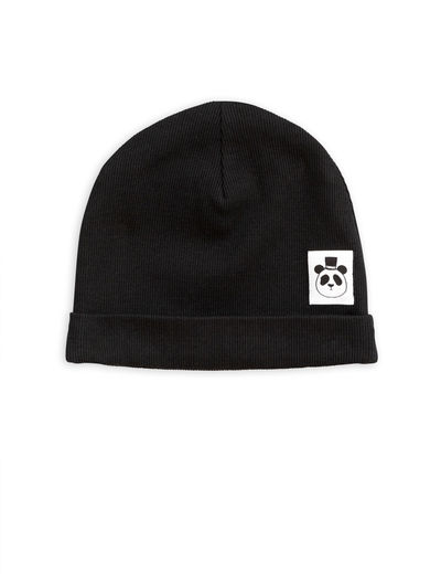 Mini Rodini - Solid rib beanie, Black