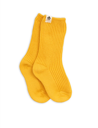 Mini Rodini - Wool sock, yellow