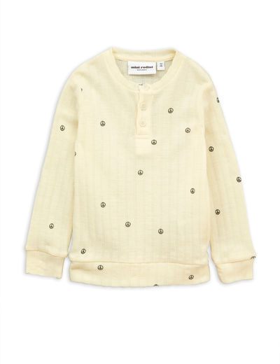 Mini Rodini - Peace pointelle wool grandpa, offwhite