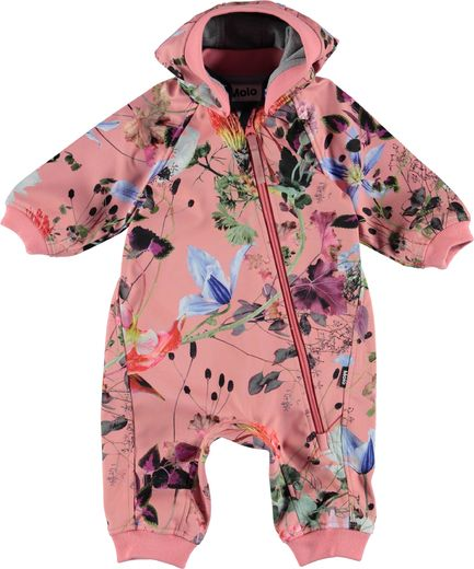 Molo Kids - Hill softshell suit, Flowers Of The World