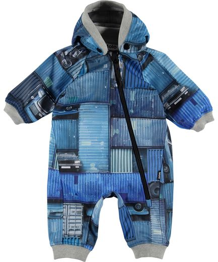 Molo Kids - Hill softshell suit, Blue Containers