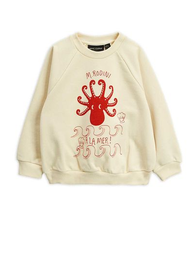 Mini Rodini - Octopus SP sweatshirt, offwhite