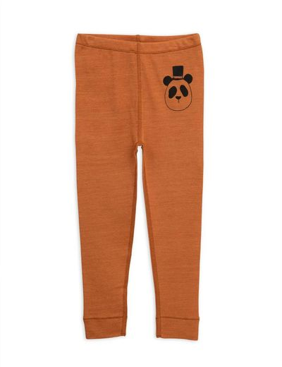 Mini Rodini - Panda sp wool leggings, brown