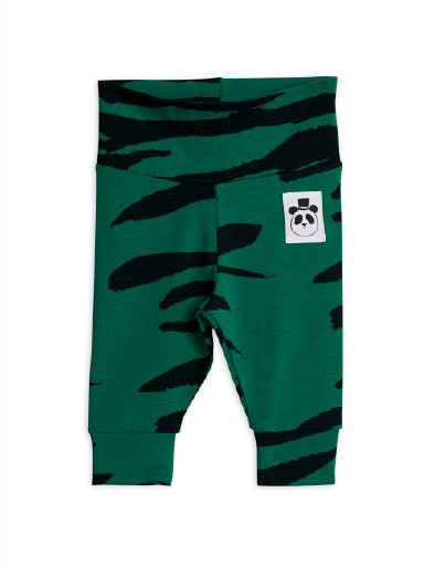 Mini Rodini - Tiger nb leggings, Green