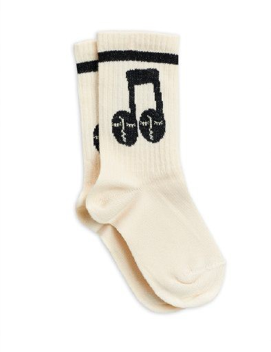 Mini Rodini - Notes socks, Offwhite