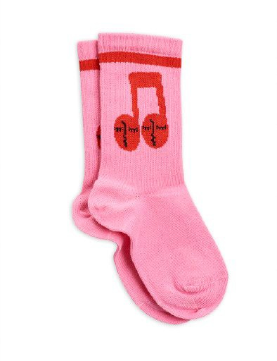 Mini Rodini - Notes socks, Pink