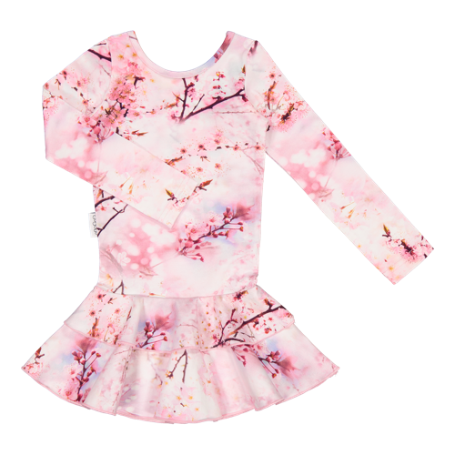 Gugguu - Print frilla dress, Cherry Blossom