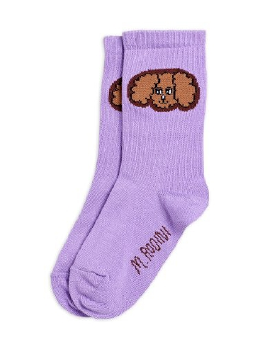 Mini Rodini - Fluffy dog socks, Purple