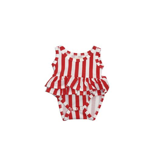 Ruffled tank body Red/White stripe