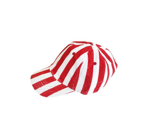 Hugo loves Tiki - Terry hat Red/White stripe