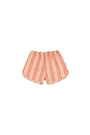 Tinycottons - 'RETRO STRIPES' SHORT terracotta/cream