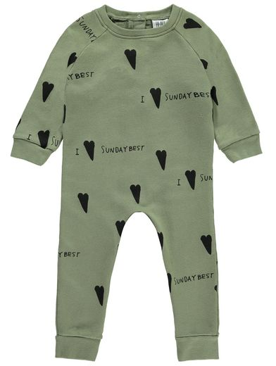 Beau LOves - Raglan romper sunday best, moss