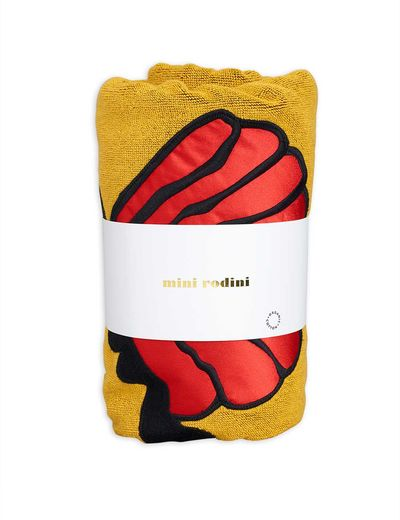 Mini Rodini - Shell beach towel, yellow