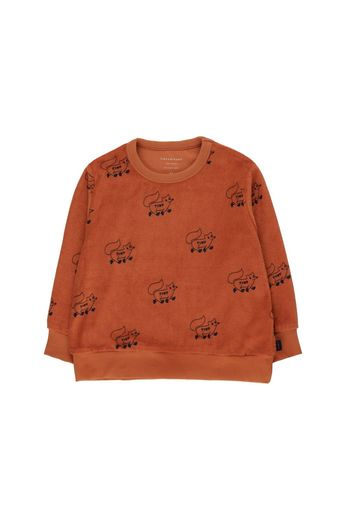"Tinycottons -  ""FOXES"" SWEATSHIRT sienna/navy"