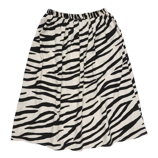 Maed for mini - Smiling Zebra Long Skirt