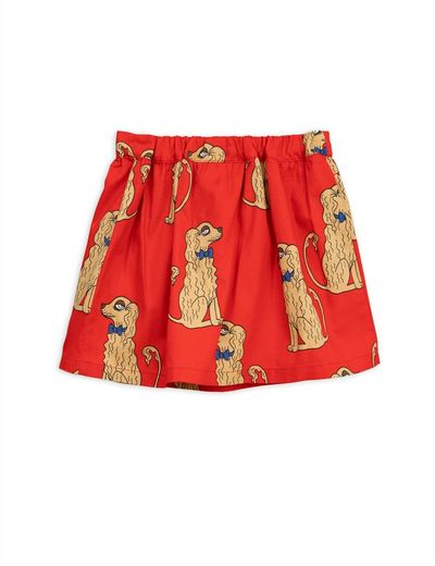 Mini Rodini - Spaniels woven skirt, red